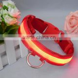 Rechargeable waterproof reactive nylon led dog collar