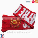 Fashion football fan scarf, infinity knit acrylic jacquard scarf, high quality soccer scarf
