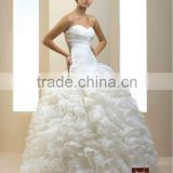 French designe Ball Gown Wedding Dress / Gown Organza Shuttlecocks Drapery