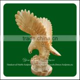 Home decoration marble carved eagle art deco garden statues