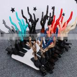 Wholesale cute deer Antlers shaped cristams hair clip for girls