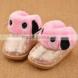 BF998 Pink Lovely Newborn Baby Girl Shoes Toddler Anti-Slip Soft Sole Winter Boots