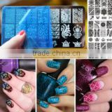 2016 New arrival Free sample BC series 20 Designs Nail Stamping Polish DIY Image Stencils Nail Art Templates Plates