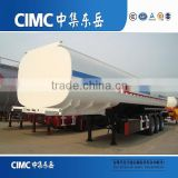 Three Axle CIMC Stainless Steel Water, Oil, Fuel Tanker Vehicles Semi-Trailer