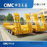 CIMC Algeria Import Lowbed Semi Trailers, 3 Axles Low Bed Trailer For Sale                                                                         Quality Choice