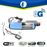 3G Wiring free Wifi Wireless No Interference WIFI 5.0 Inch Smart 1080P GPS Android 4.4 3G Rearview Mirror Bluetooth Car DVR