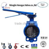 PN10/PN16 Size DN40~DN1000 Cast Iron Body SS410 Single Stem with pin Wafer Butterfly Valve