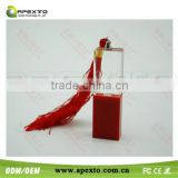Red Crystal And Plastic Material USB 4-32GB Model 2.0 Enough Memory Stick Flash pen Drive