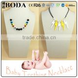 personalized teething amber silicone necklace