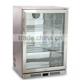 glass display fridge electric beverage cooler for beer distributor air cooling beer fridge clear door