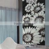 JY-JH-S06-D Artistic handcraft glass mosaic backsplash Black and white sunflower wall mural modern bedroom wall decorate pattern