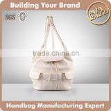4805-New Fashion Simple Design School Bag for 2016 Summer Drawstring Leather Backpack for Girls
