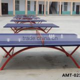 Cheap price Good quality SMC healthy design blue color outdoor rainbow shape SMC ping- pong table