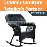wholesale furniture outdoor big heavy duty antique metal steel frame handmade pvc rattan wicker floor garden rocking chair