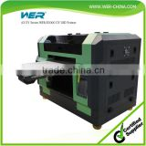 Best quality a3 WER E2000UV CD Printing machine a3 size uv flatbed printer for phone case printing machine