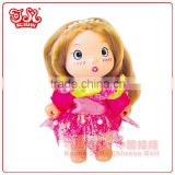 Collectible gift for kids / lovely keychain / funny plastic baby dolls toy / child love dolls