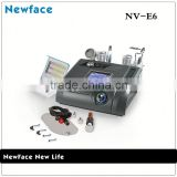 NV-E6 Portable 6 in 1 No-needle mesotherapy galvanic handheld beauty device skin tightening equipment for salon