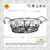 Artificial wrought iron wire metal custom kitchen wire basket drawer