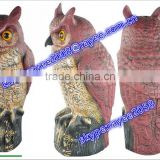 Great Horned Owl Predator Decoy Home Depot Plastic Owl for Bird Control Shine,With solar panels and batteries