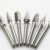 tree shape oval cylinder ball shape cemented tungsten carbide rotary burrs solid carbide with radius end plaint end tool
