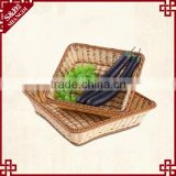 Cheap wholesale eco-friendly plastic wicker woven home or resturant food tray vegetable plant tray
