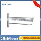 Wholesale Stainless Steel 304 Bathroom Towel Bar With 3 Swivel Bars