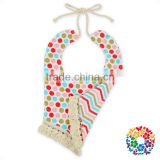 Infant And Toddler Cheap Printing Bandana Two Sides Tassel Bibs For Baby