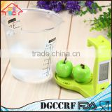 Reliable Factory Electronic Digital Kitchen Plastic Measuring Cup Scale with LCD Display