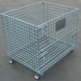 Collapsible Zinc Coated Wire Mesh Container , Wire Pallet Cage