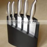 5-Pieces Knife set: 5 S/S knives in hollow handle + wooden knife block.