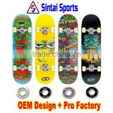 Christmas gifts OEM design Skateboard decks canadian maple blank deck skateboard