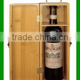 Custom Eco-friendly Bamboo Single Bottle Red Wine Packing Box For Sale