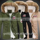 2016 wholesale Winter Clothing Men Style Fashion Custom Casual thick army green Winter Down Jacket Men
