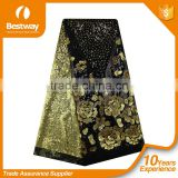 FL0055 gold 2015 newest african fashion high quality French Lace net lace for party wedding dresses and clothing