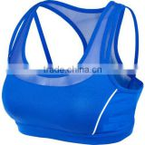 fashionable women's training mid-support reflective sports bra