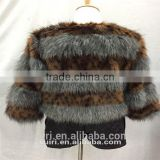 2016 autumn winter new design woman fox fur jackets ladies fake fur coat casual winter jackets