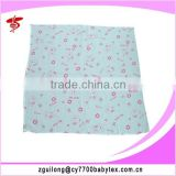 100% cotton printed folded cloth diaper for newborn baby, reusable and washable cloth diaper
