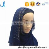 hot sale muslim chiffon hijab scarf with glitters and rhinestone women fashion headscarves