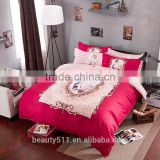 2017 Textile products duvet cover bedding set beautiful 100% cotton bridal wedding bed sheet BS261