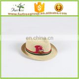 eco friendly children baby cute straw woven fedora hat