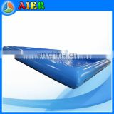 Blue inflatable water pool, inflatable pool with valve flap, air pool for paddle boat