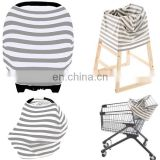 3 in 1Strecthy gray rayon Nursing/Highchair/Shopping Cart Cover