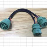 Truck 9pin Y-cable J1939 9 Pin to Obd-J1939 DEUTSCH 9 PIN TO OBD 16 PIN MALE ADAPTER TEST CABLE FOR DIESEL TRUCK VEHICLE