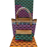Fashionable Beautiful ladies handbags African wax printed ladies matching bags and bag fabric waxH170720001