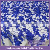 TL050A royal blue embrodiered venice lace fabric cheap wedding table overlays for weddings