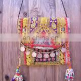 indian banjara zari clutch bag