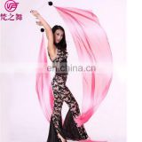 P-9082 Professional performance imitated silk belly dance veil poi