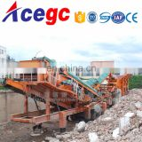 Mobile crushing station,movable stone crusher machine,movable car crusher