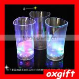 Oxgift New sensors change color vase color cup PVC colorful bar LED glasses of red wine glass of red wine