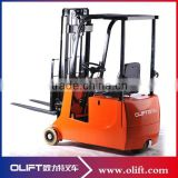 24v 300ah mini electric forklift truck three wheels electric forklift truck                                                                         Quality Choice